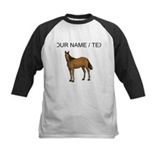 Custom Brown Horse Baseball Jersey