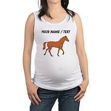 Custom Brown Horse Maternity Tank Top