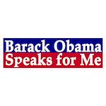 Barack Obama Speaks for Me (sticker)