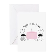 Night On Town Greeting Cards
