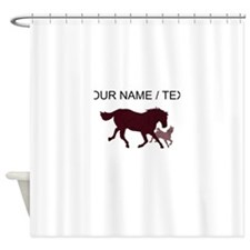 Custom Horse And Colt Shower Curtain