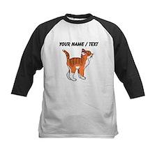 Custom Orange Kitten Baseball Jersey