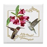 Hummingbird Pair Tile Coaster