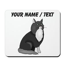 Custom Black And White Cat Mousepad