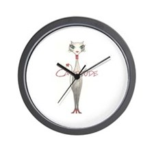 Cattitude Wall Clock