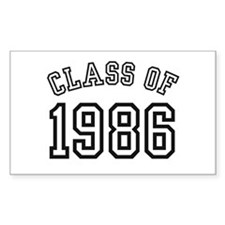 Class of 1986 Rectangle Bumper Stickers