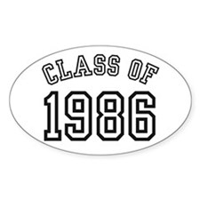 Class of 1986 Oval Bumper Stickers