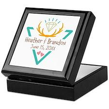 Hipster Wedding or Engagement Gift Keepsake Box