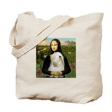 Mona Lisa (new) & Tibetan Terrier Tote Bag