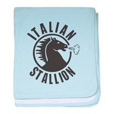 Italian Stallion baby blanket