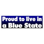 RI Blue State Bumper Sticker