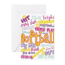 Softball Greeting Cards