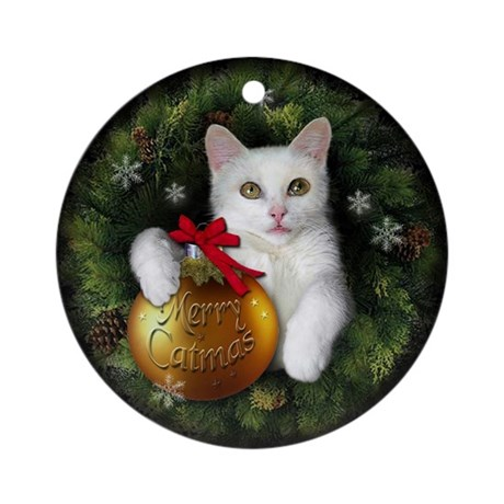 Ornament (Round) Merry Catmas