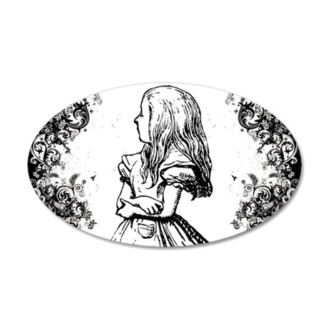 Alice Swirls 20x12 Oval Wall Decal