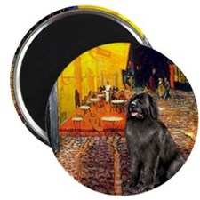 "Cafe & Newfoundland 2.25"" Magnet (10 pack)"