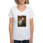 Windflowers / Newfoundland Women's V-Neck T-Shirt
