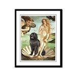 Venus & Newfoundland Framed Panel Print