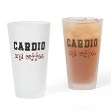 Cardio and Coffee Drinking Glass