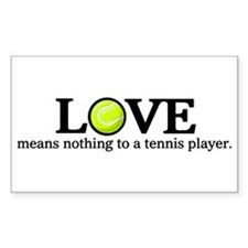 Love means nothing Rectangle Decal
