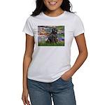 Lilies2-Newfie2 Women's T-Shirt