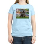 Lilies2-Newfie2 Women's Light T-Shirt