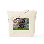 Lilies2-Newfie2 Tote Bag