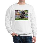 Lilies2-Newfie2 Sweatshirt