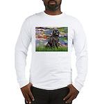 Lilies2-Newfie2 Long Sleeve T-Shirt