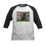 Lilies2-Newfie2 Kids Baseball Jersey