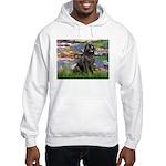 Lilies2-Newfie2 Hooded Sweatshirt