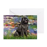 Lilies2-Newfie2 Greeting Cards (Pk of 10)