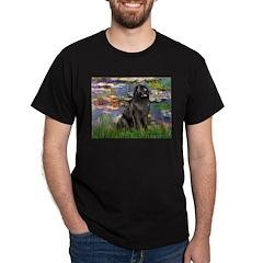 Lilies2-Newfie2 Dark T-Shirt