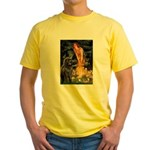 Fairies & Newfoundland Yellow T-Shirt