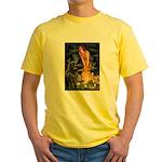 Fairies & Newfoundland Yellow T-Shirt