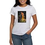 Fairies & Newfoundland Women's T-Shirt