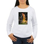 Fairies & Newfoundland Women's Long Sleeve T-Shirt