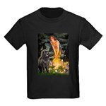 Fairies & Newfoundland Kids Dark T-Shirt