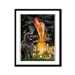 Fairies & Newfoundland Framed Panel Print