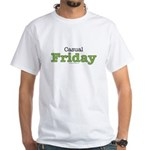 Casual Friday Work At Home White T-Shirt