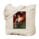 Angel & Newfoundland Tote Bag
