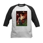 Angel & Newfoundland Kids Baseball Jersey