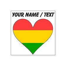 Custom Bolivia Flag Heart Sticker