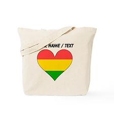 Custom Bolivia Flag Heart Tote Bag