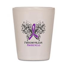 Fibromyalgia Awareness Shot Glass