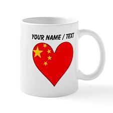 Custom China Flag Heart Mugs