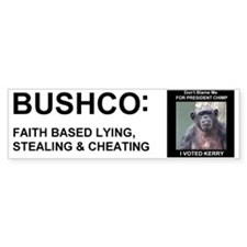 BUSHCO Faith Based Nonsense Bumper Bumper Sticker