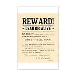 Northfield Bank Robbery Mini Poster Print
