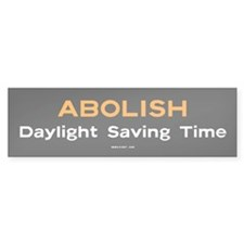 Abolish Daylight Saving Time sticker