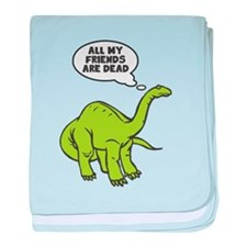 All My Friends Are Dead (Dinosaur) baby blanket