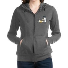 Italian Greyhound Trio Women's Zip Hoodie
